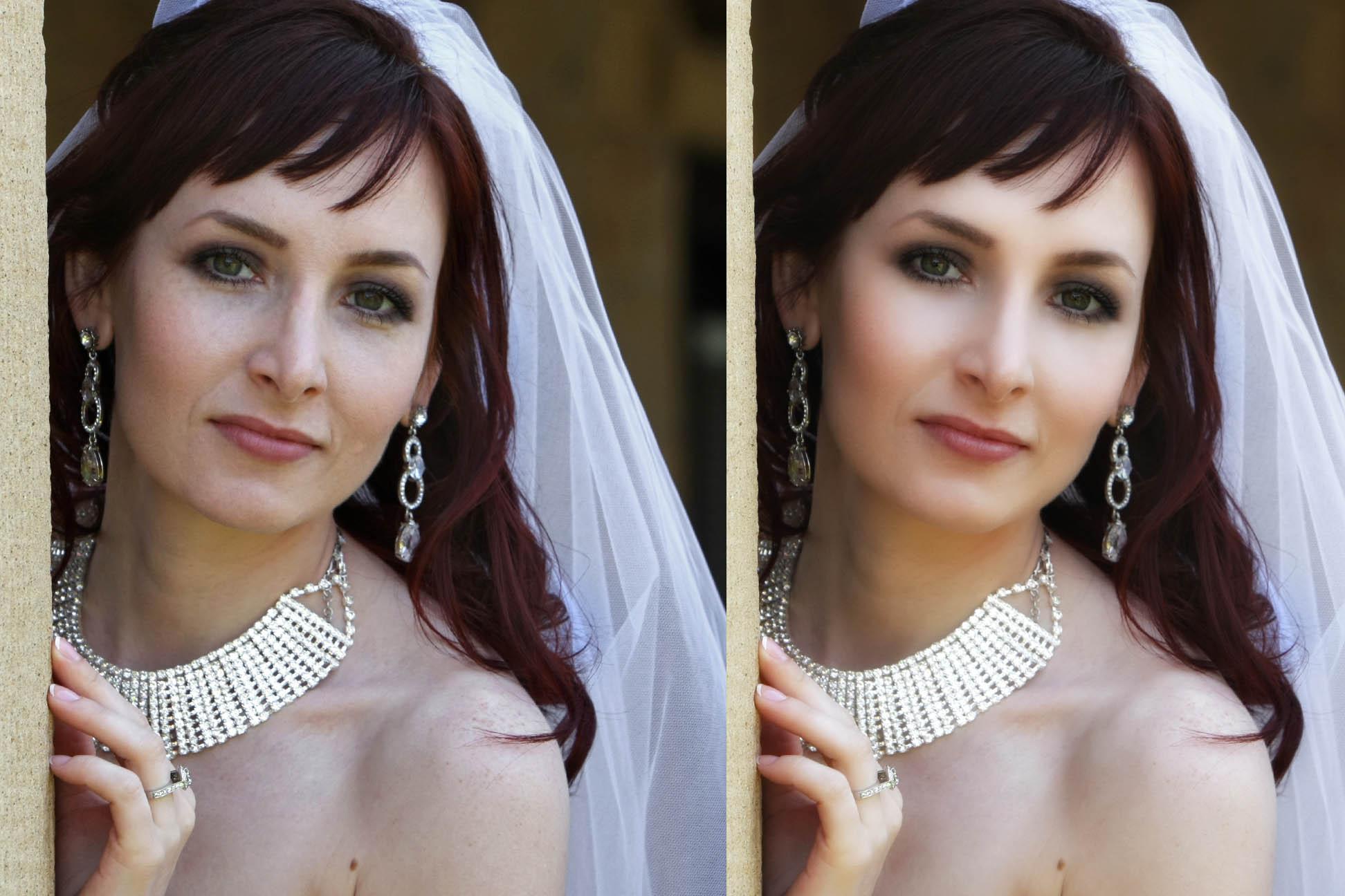 bride's portrait retouched