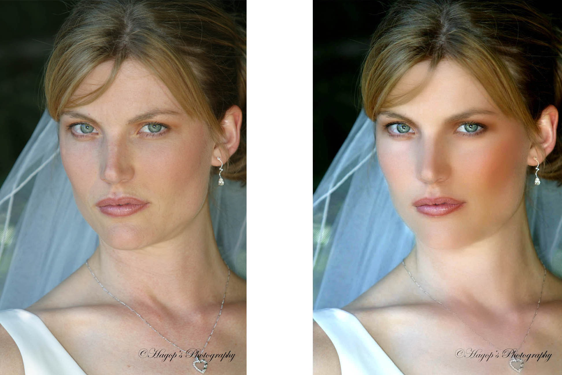 enhancing bride's portrait