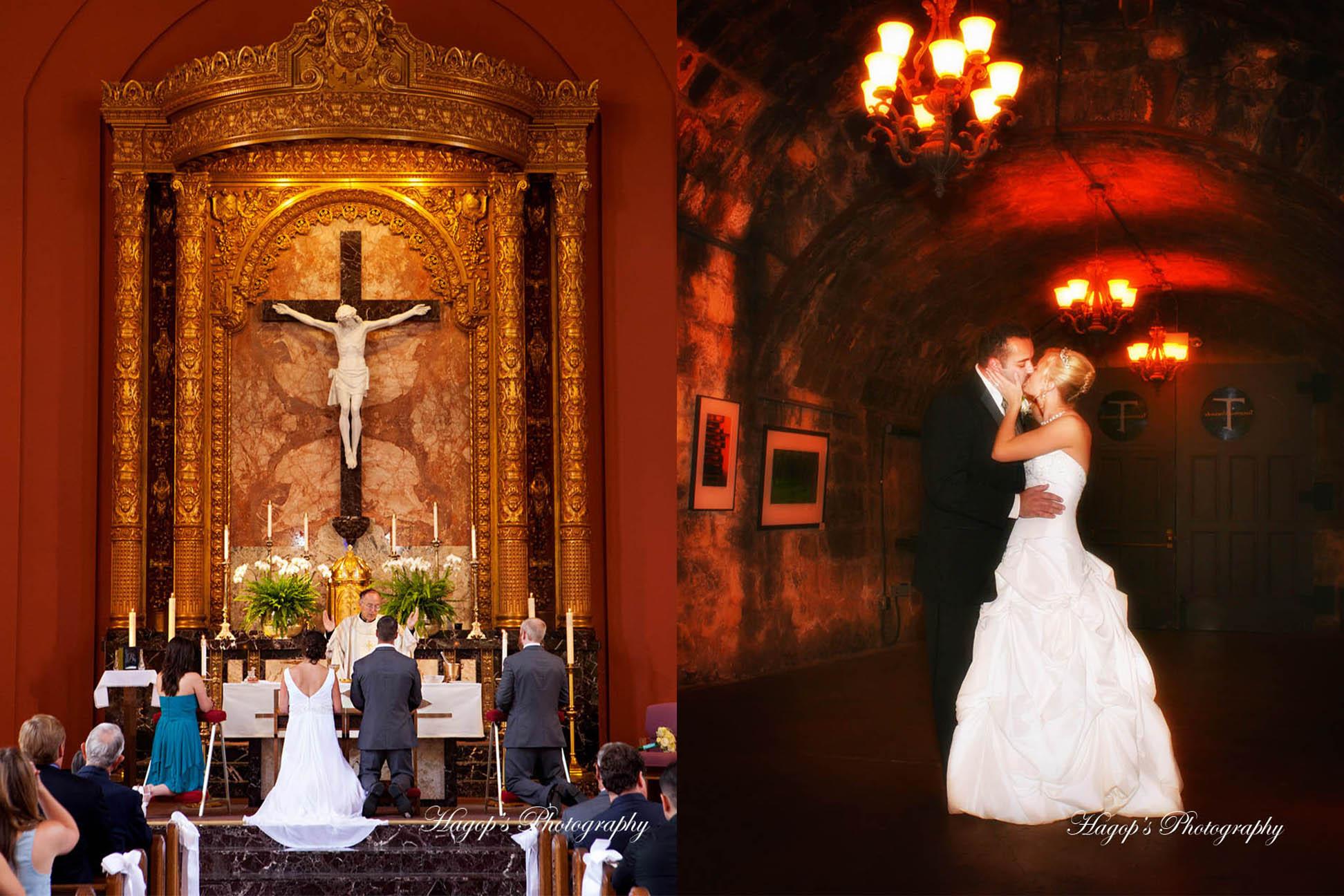 church & winery wedding