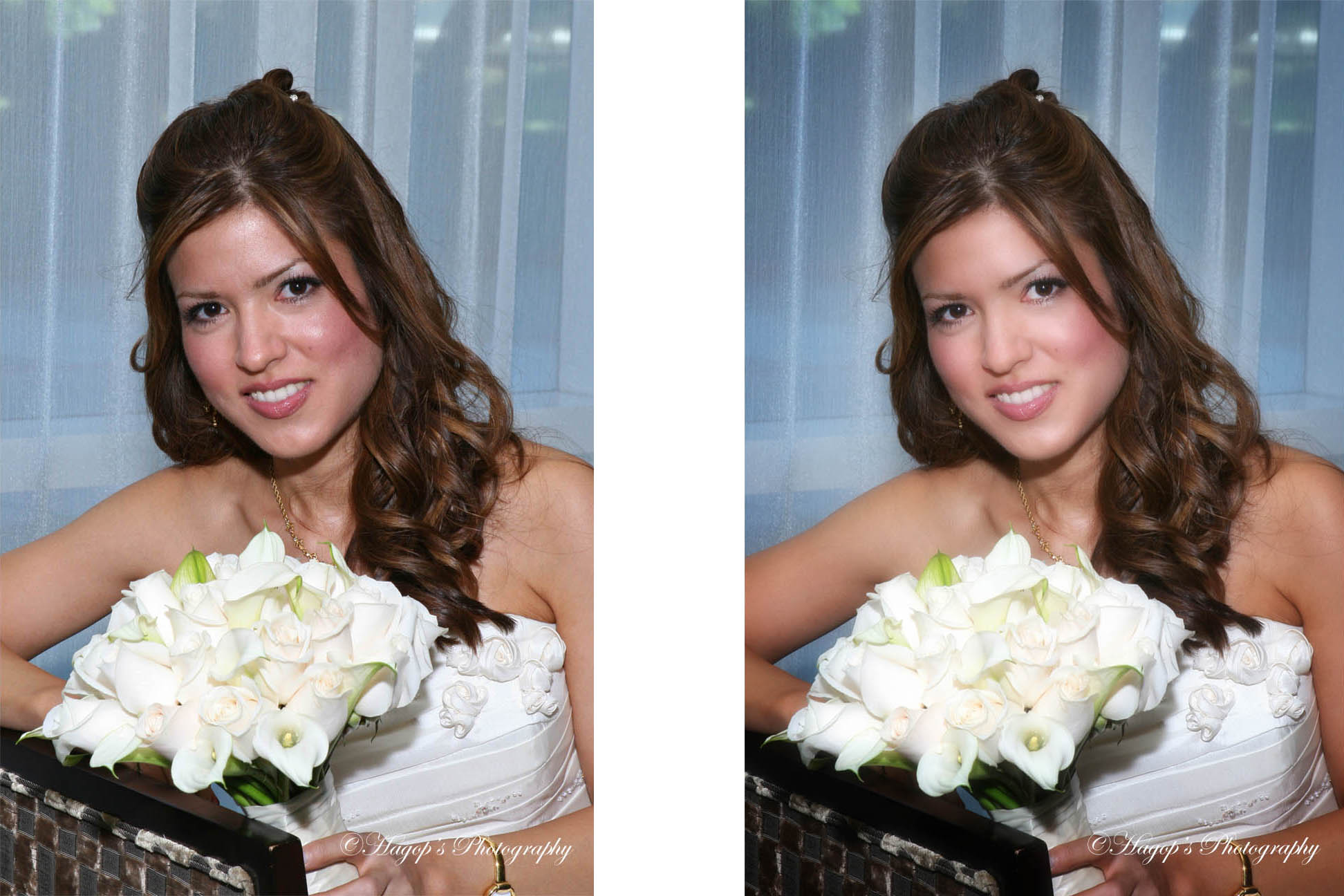 retouching bride's photo
