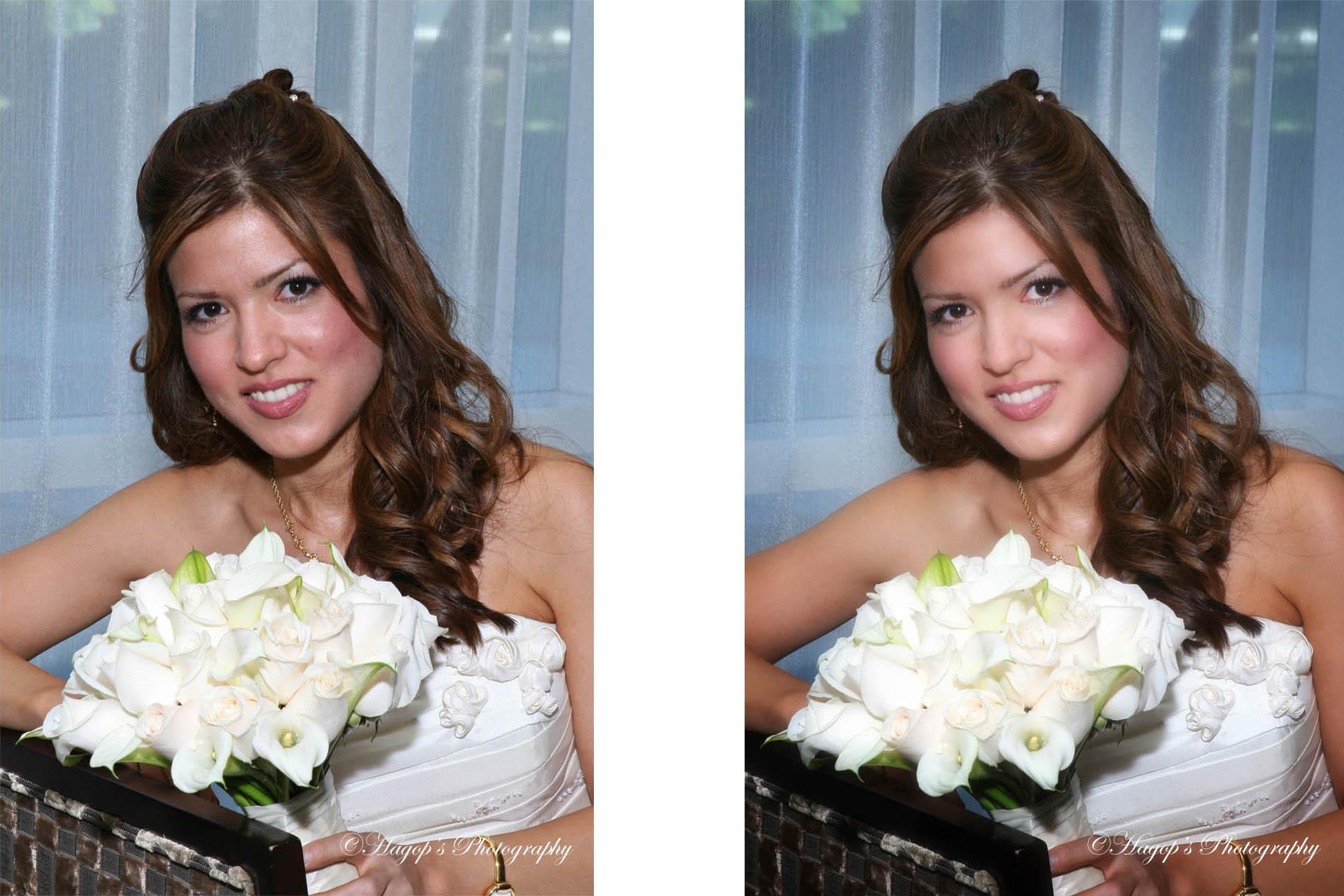 retouching bride's photo