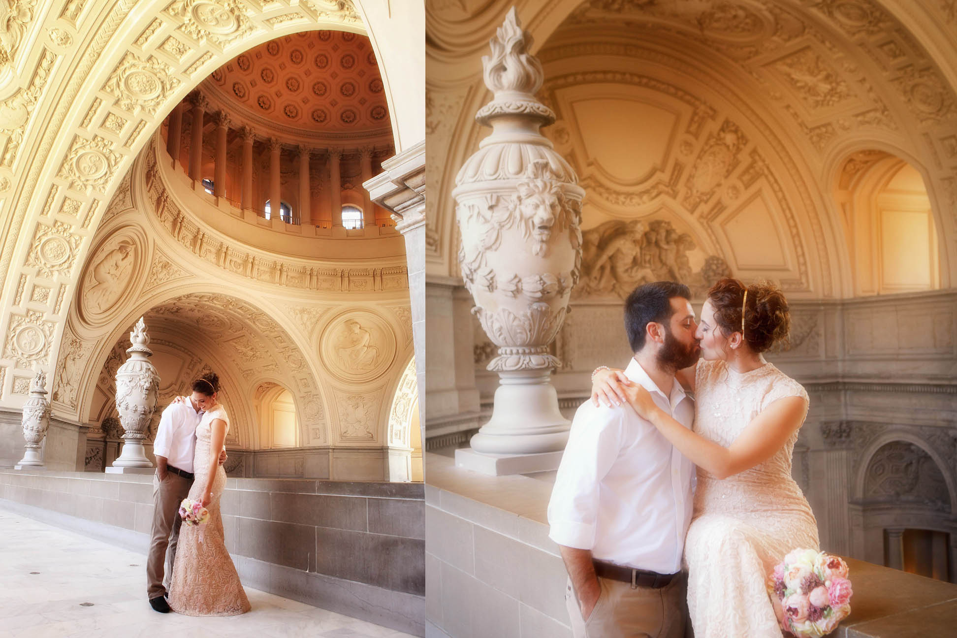 romantic photos at the city hall