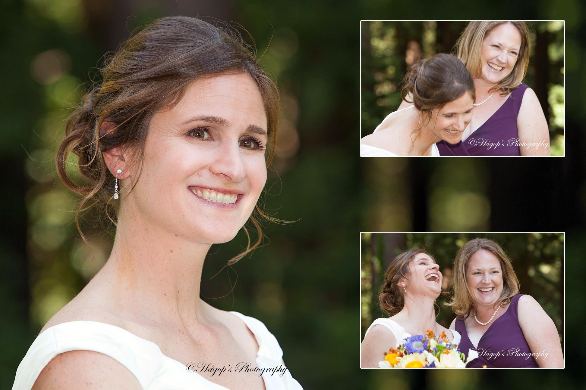 composite page of a bride's pre wedding photos with her bridesmaid