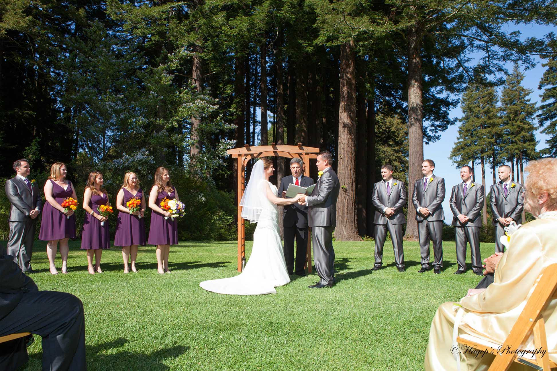 mountain terrace wedding ceremony