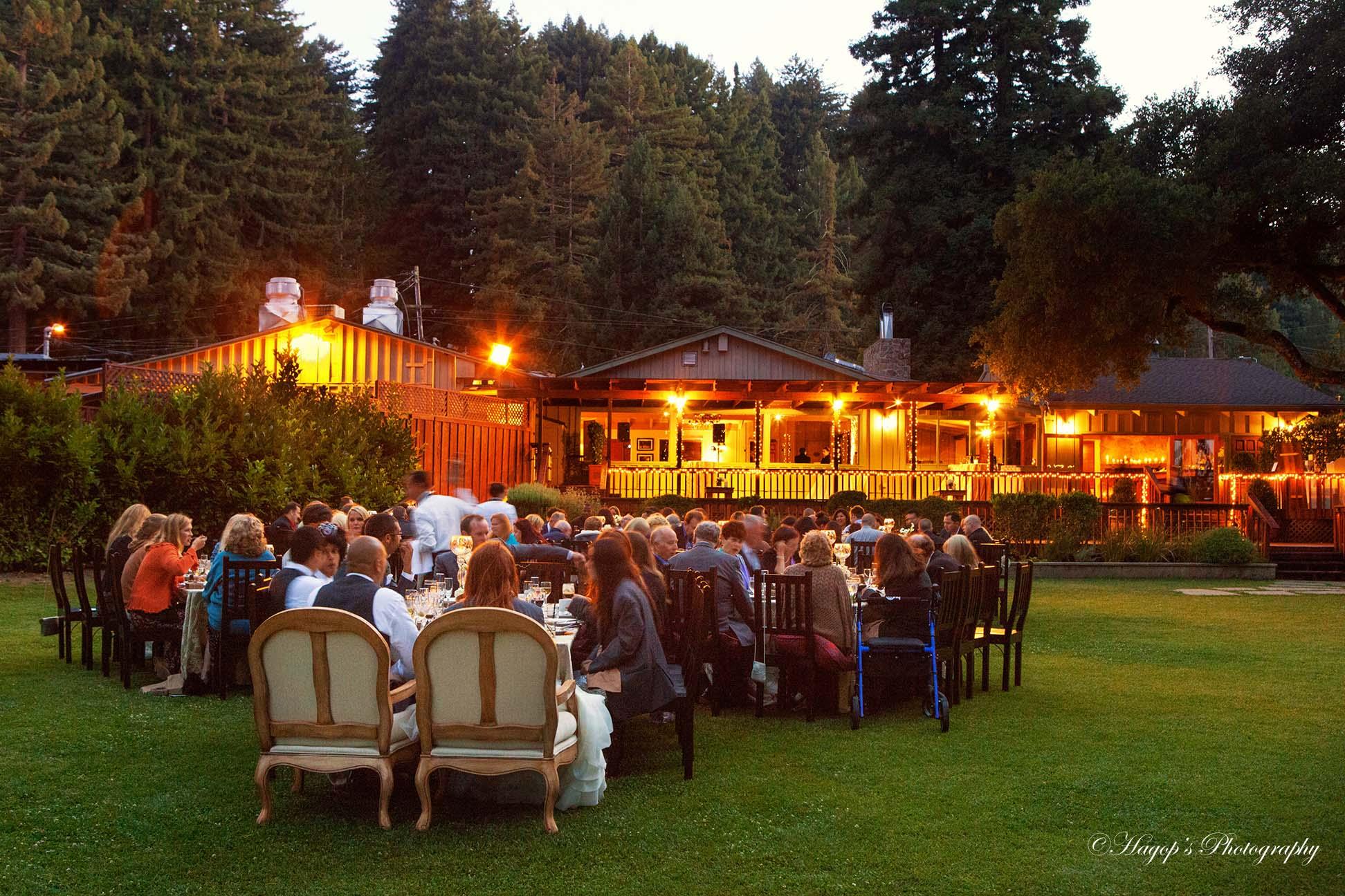 mountain terrace outdoor wedding reception