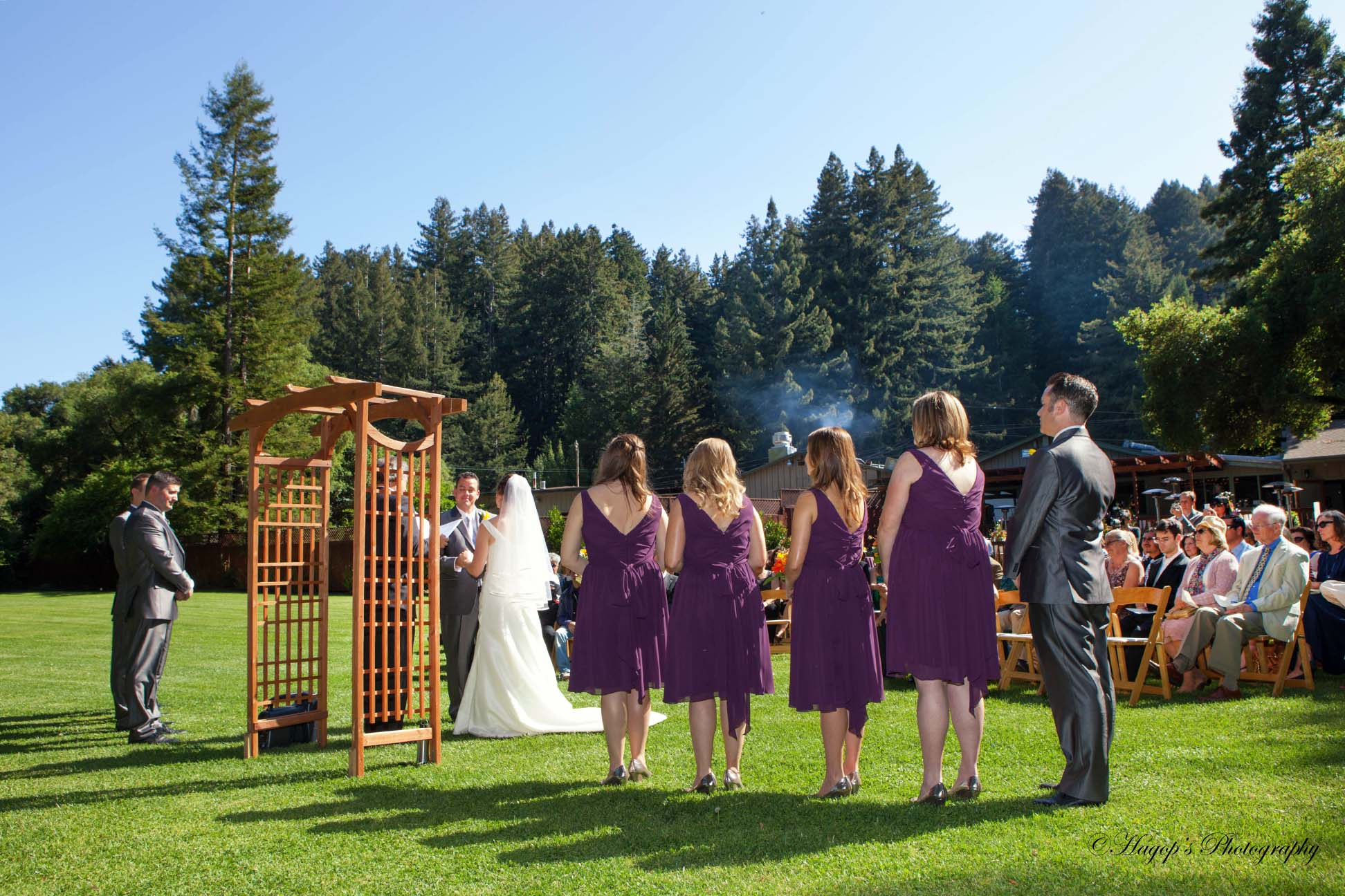 wedding ceremony from a different angle