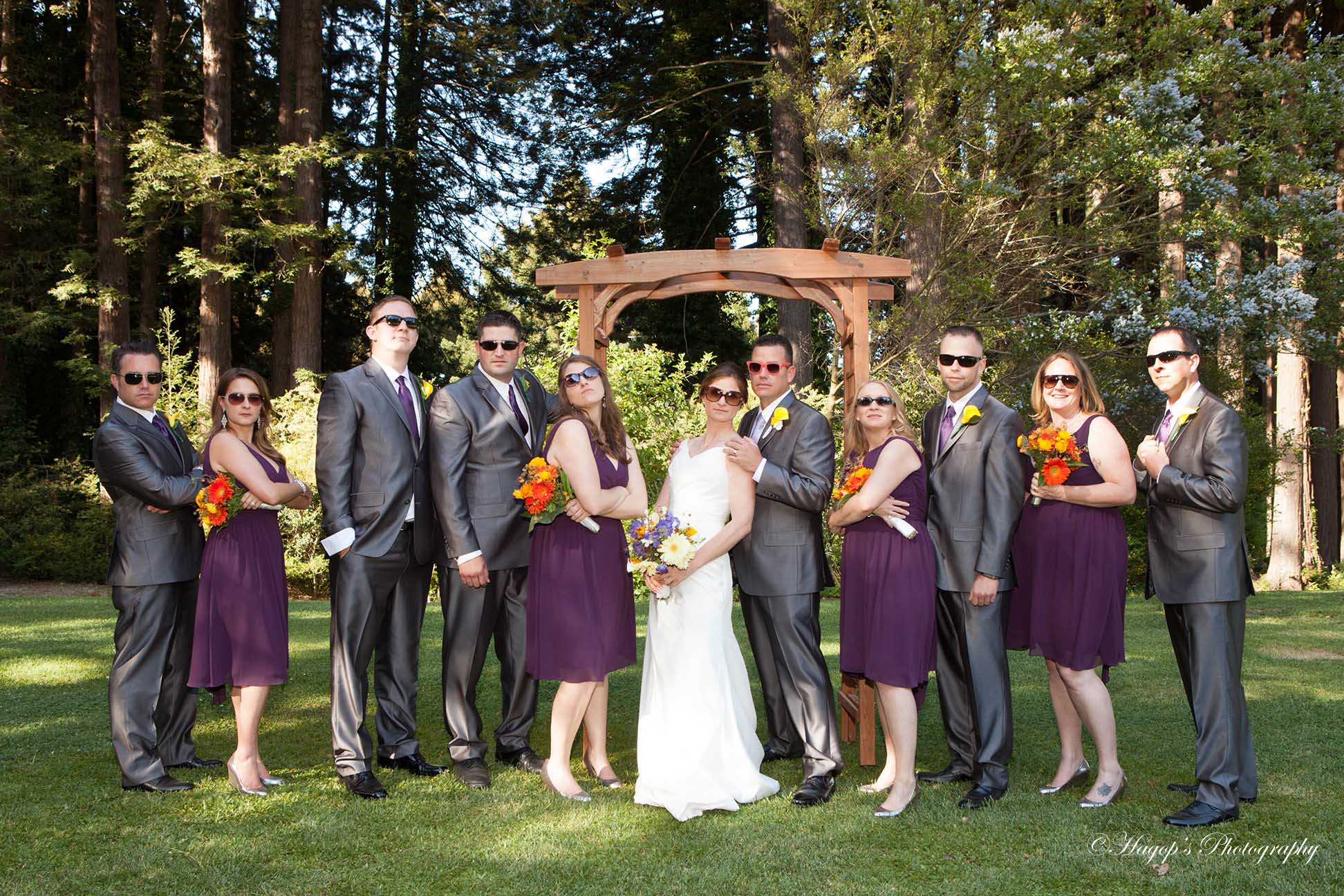 bridal party photo after the ceremony