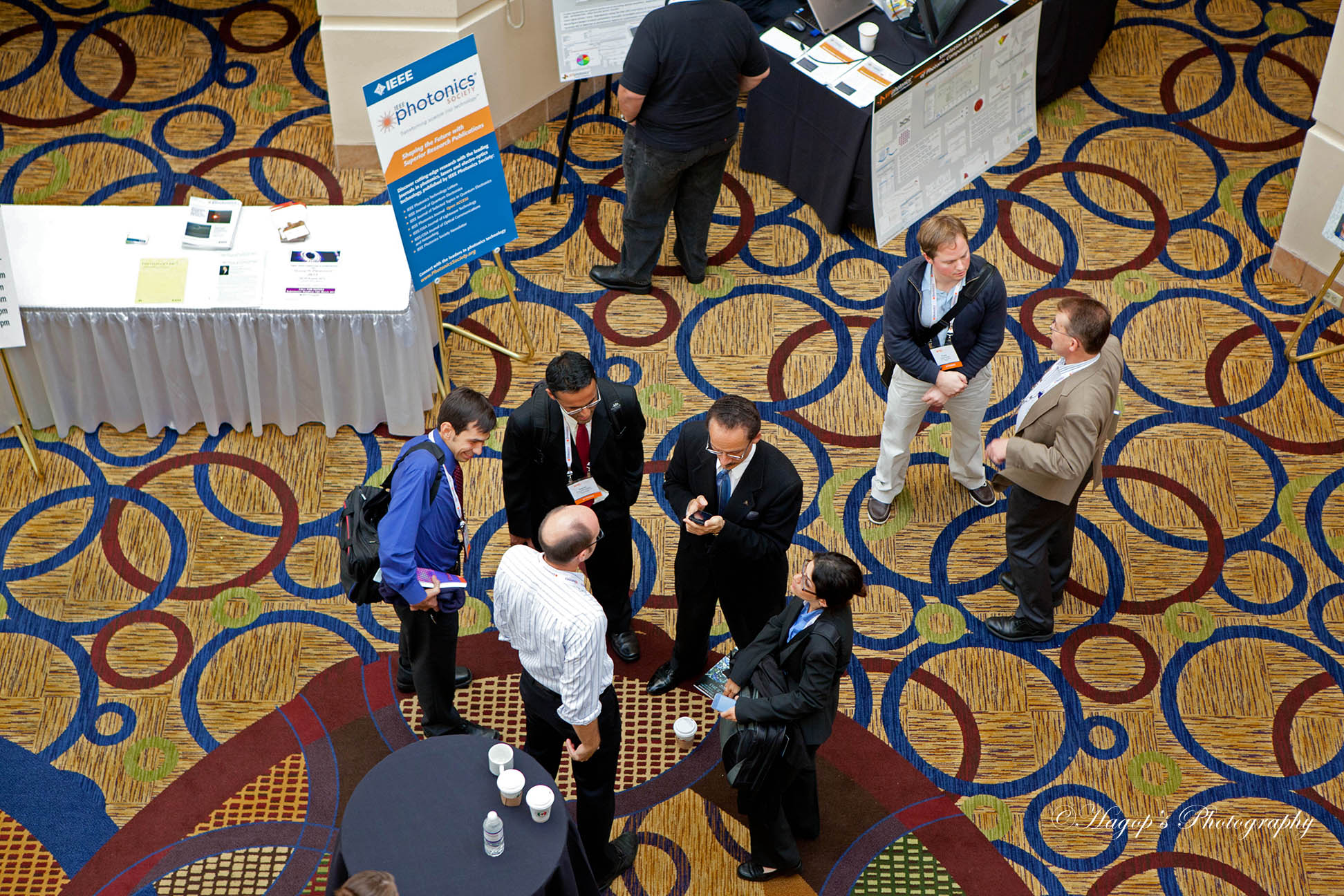 attendees mingling
