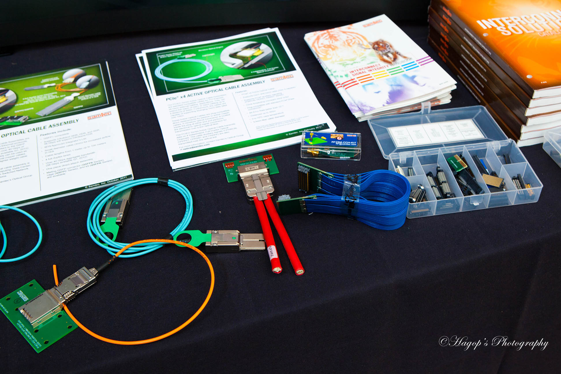 items displayed by vendors sponsoring the conference