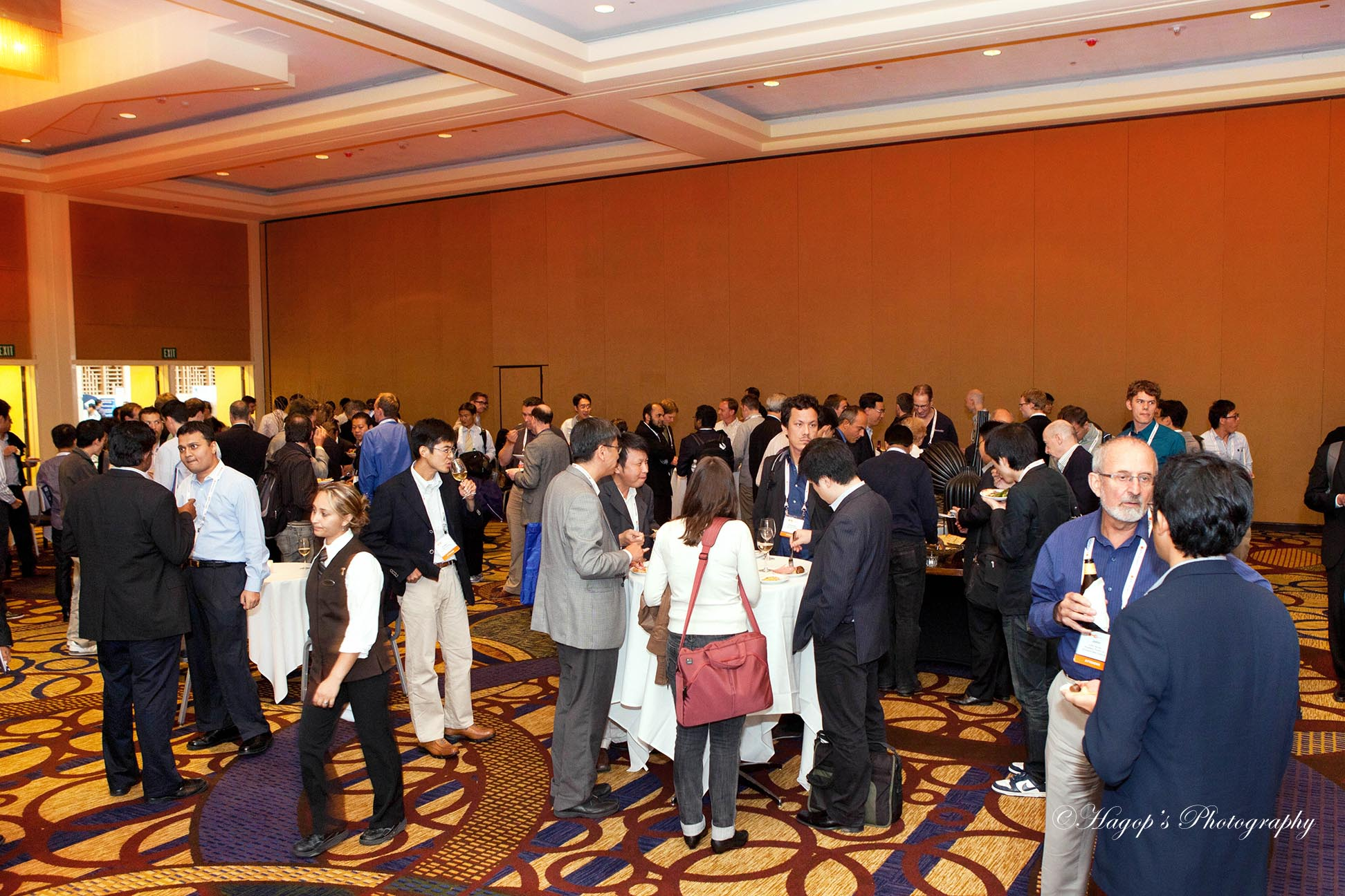 general view of the reception at the end of the conference