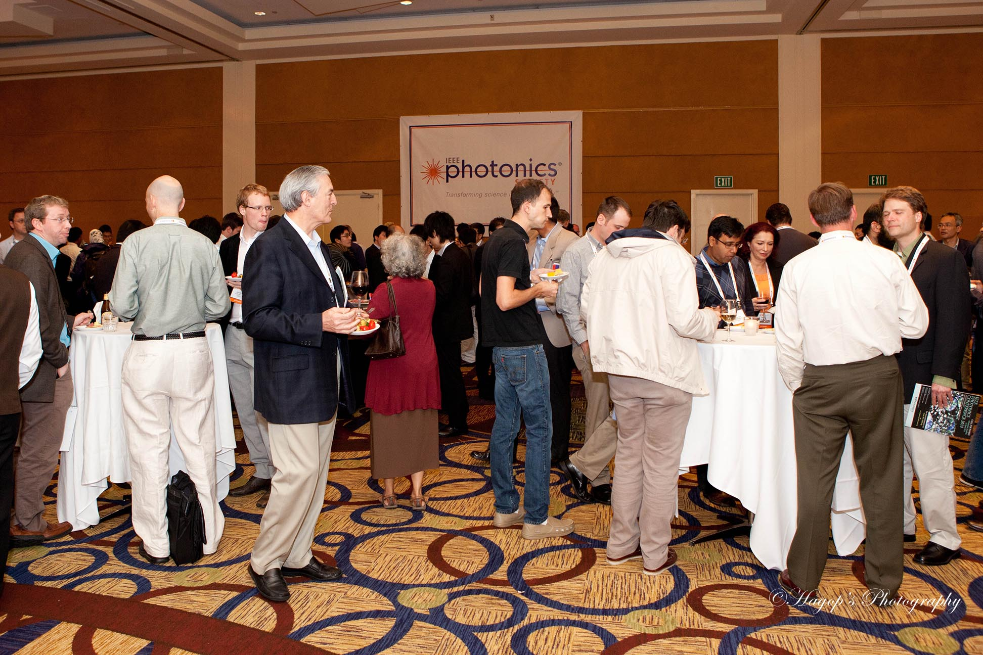 attendees having appetizers during a conference in burlingame
