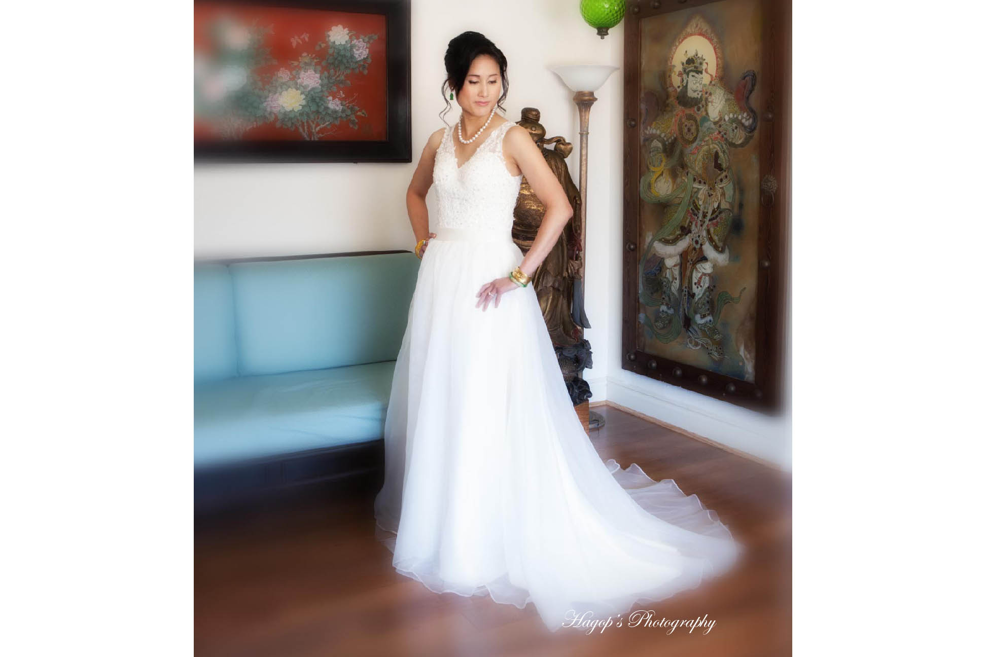pre-wedding photo of the bride