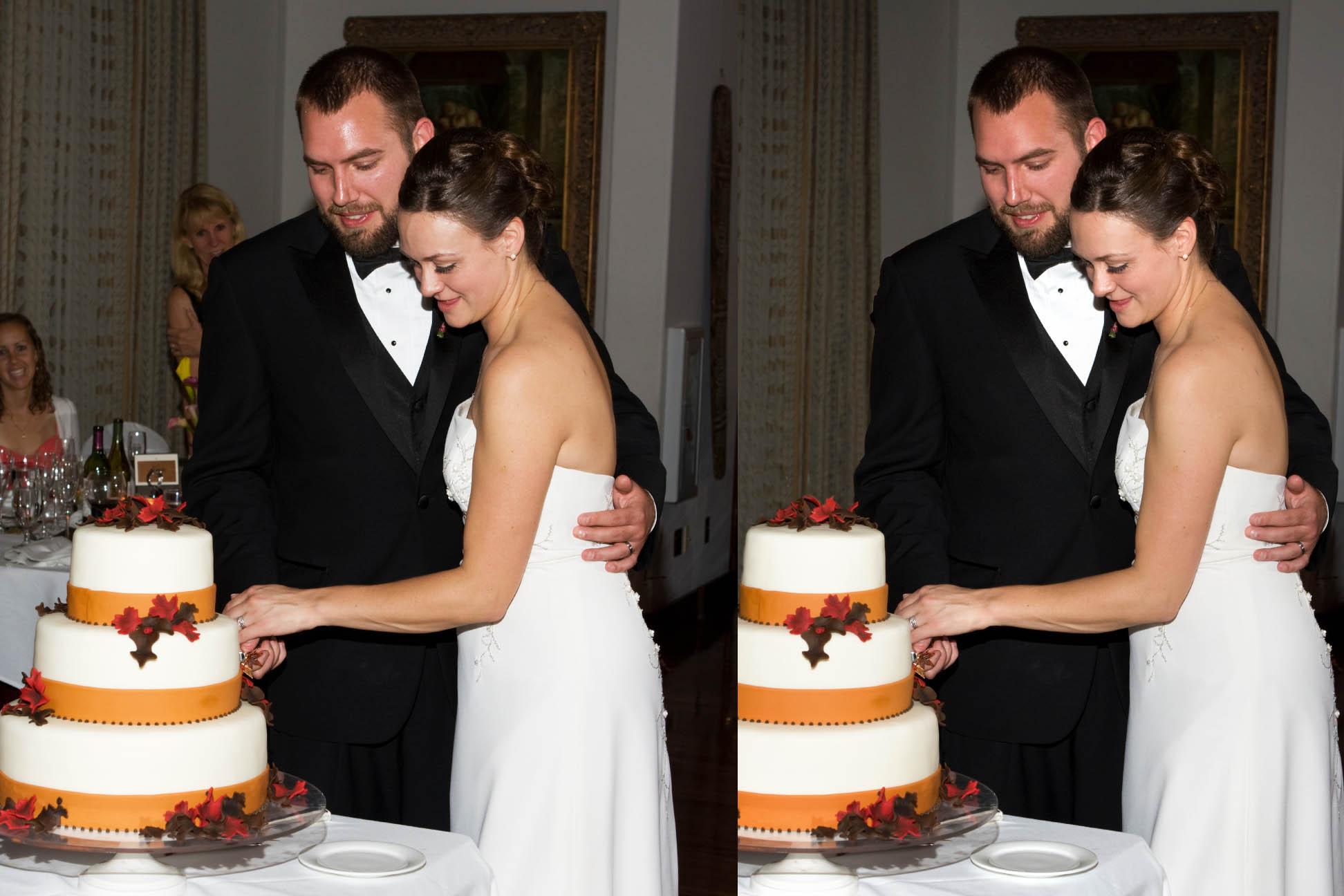 digital retouching of wedding photos