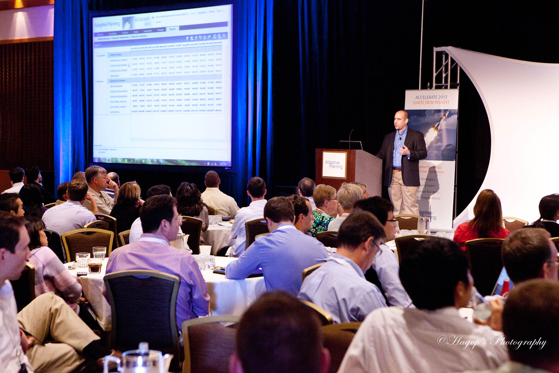 speaker photo during his presentation