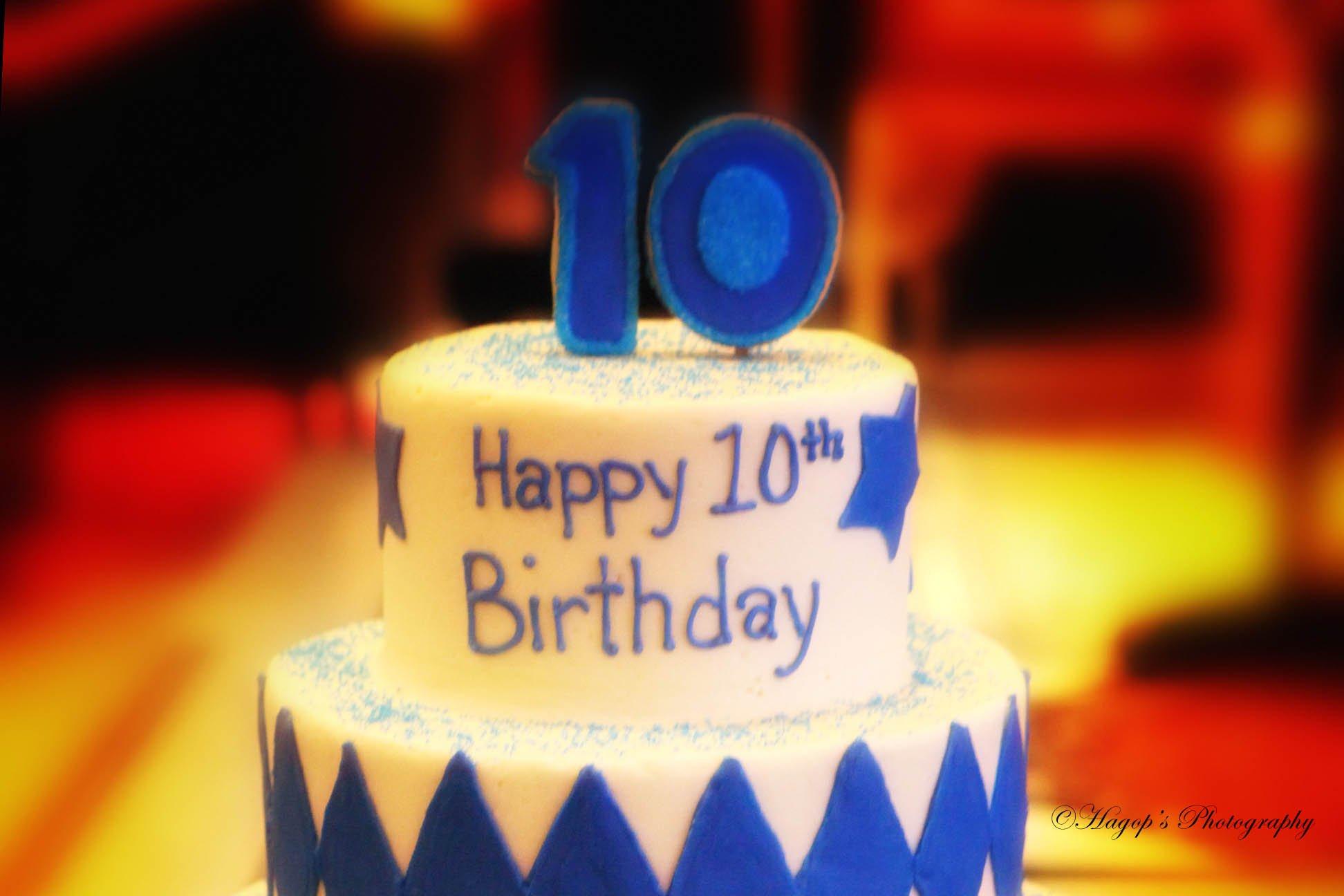 cake topper happy 10th birthday