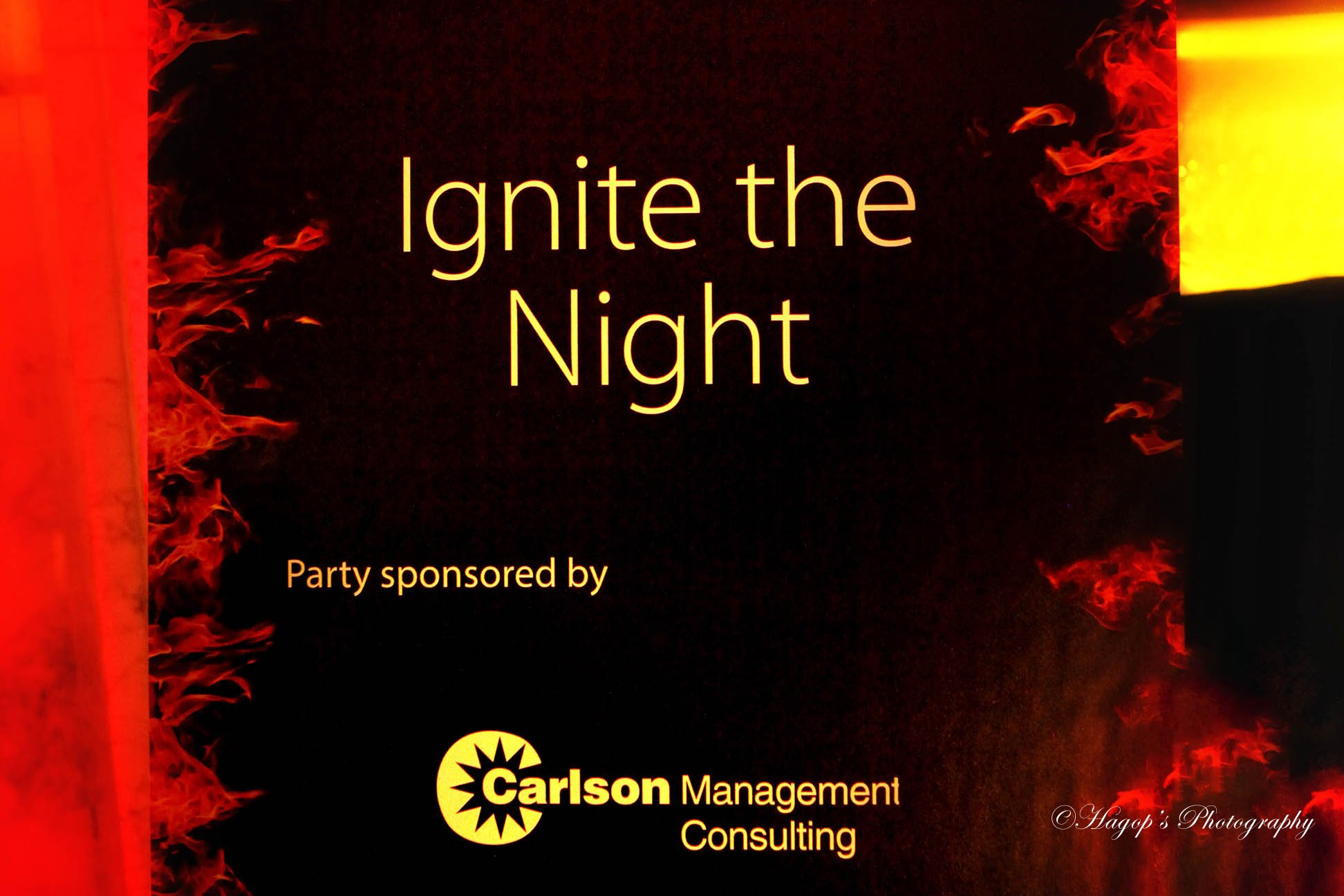sponsor of the party sign