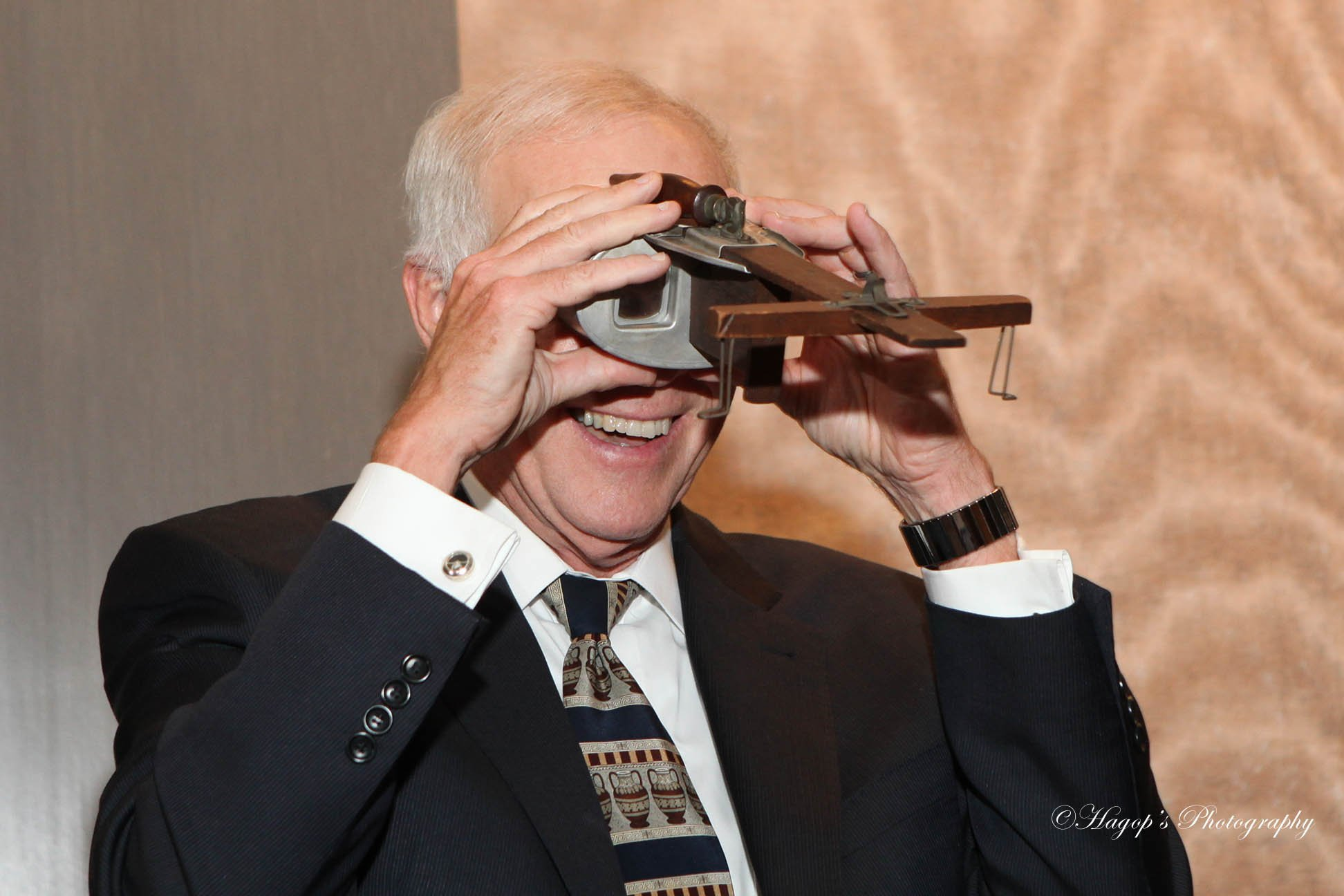 man looking through goggles