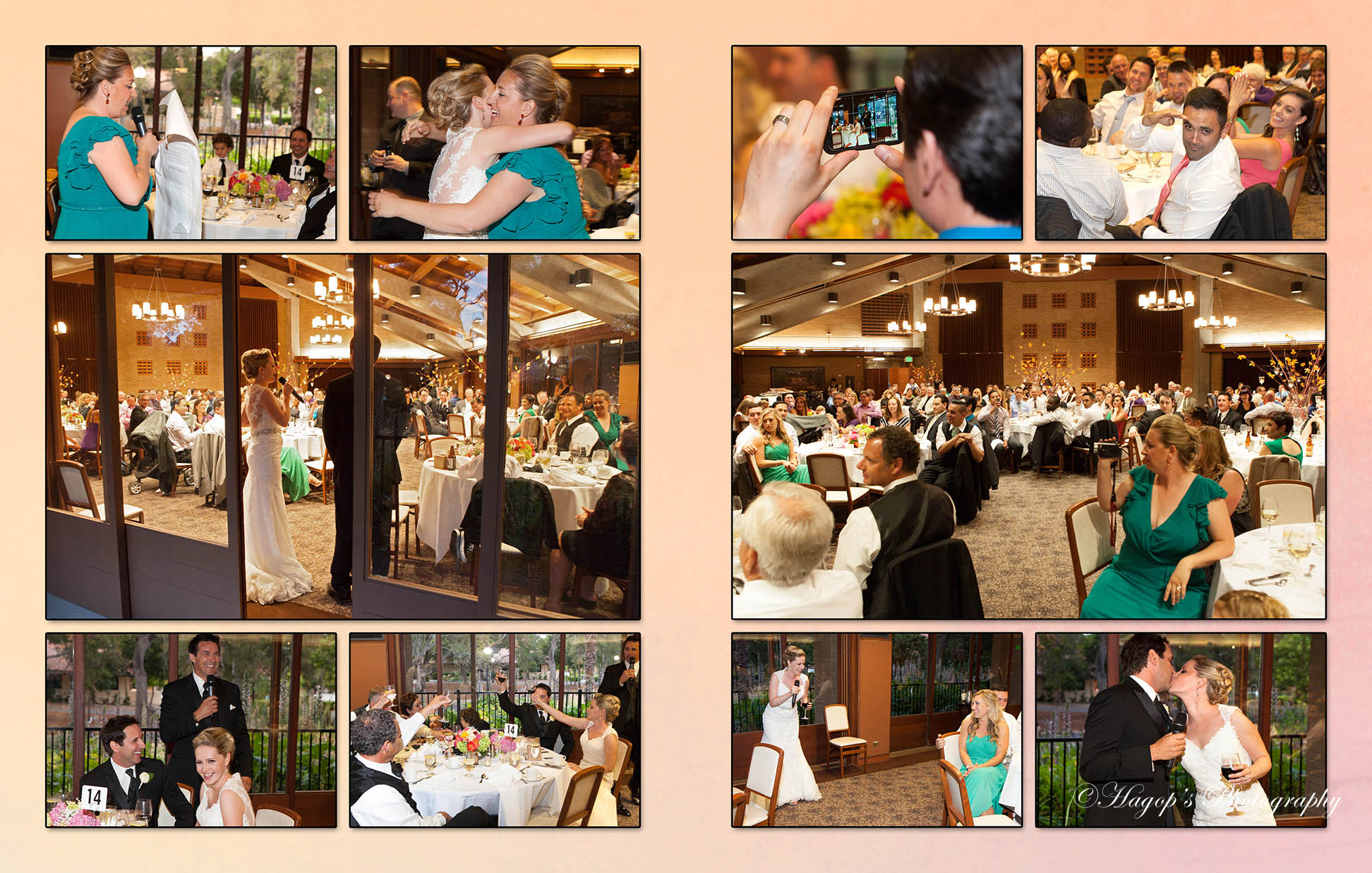 composite candid of the reception