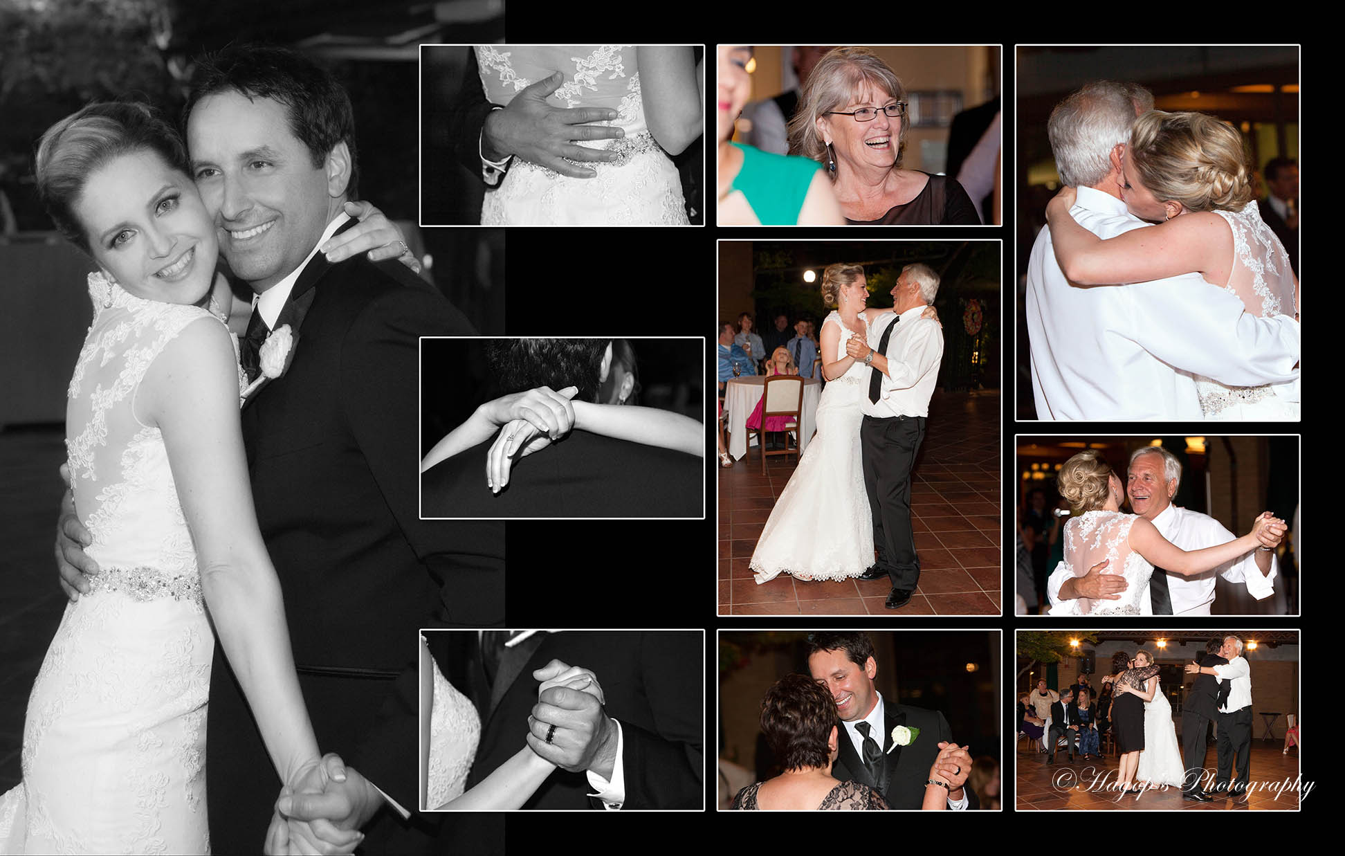 composite of candid photo taken during the parents dance