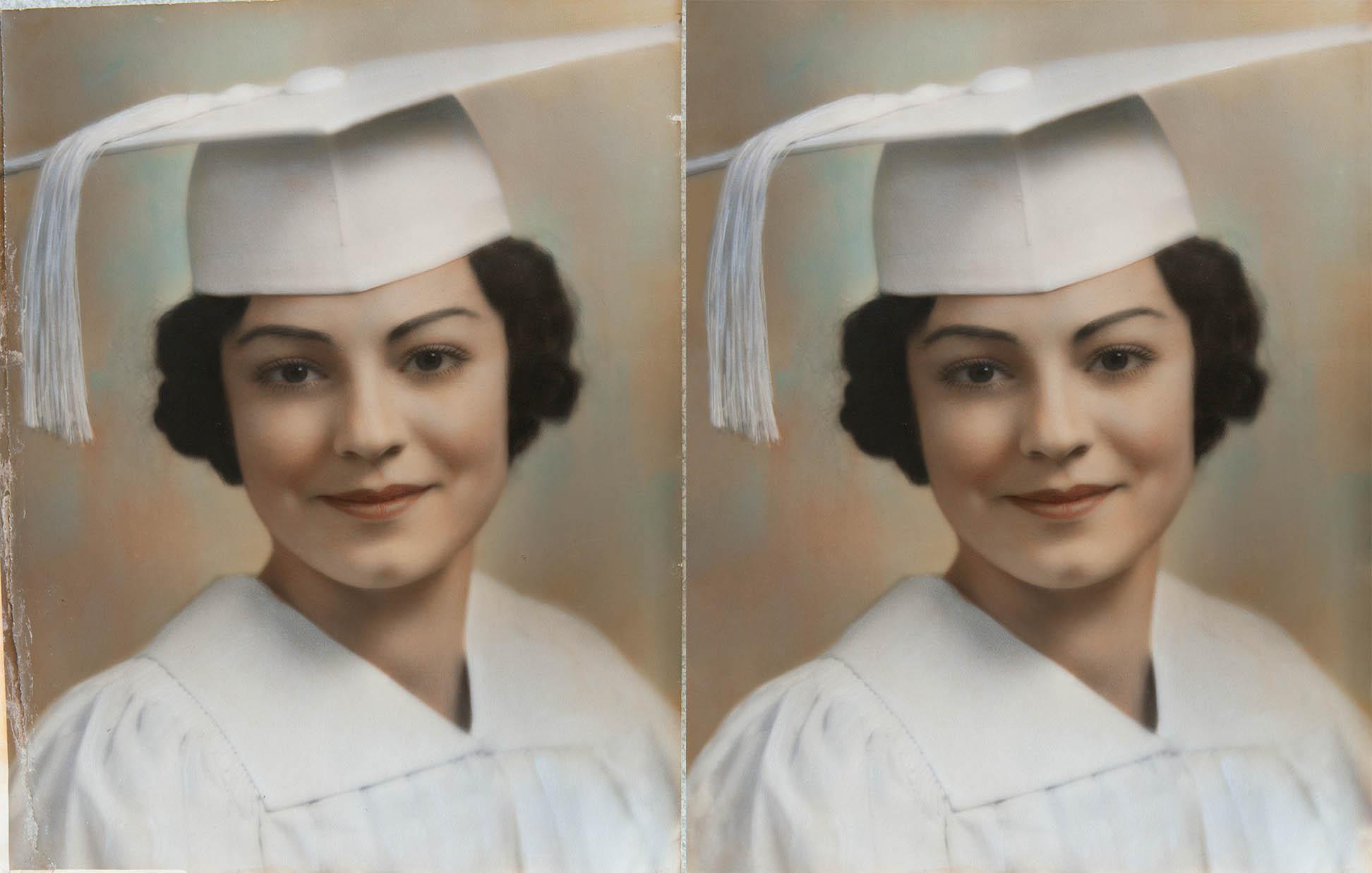 hand colored print restoration