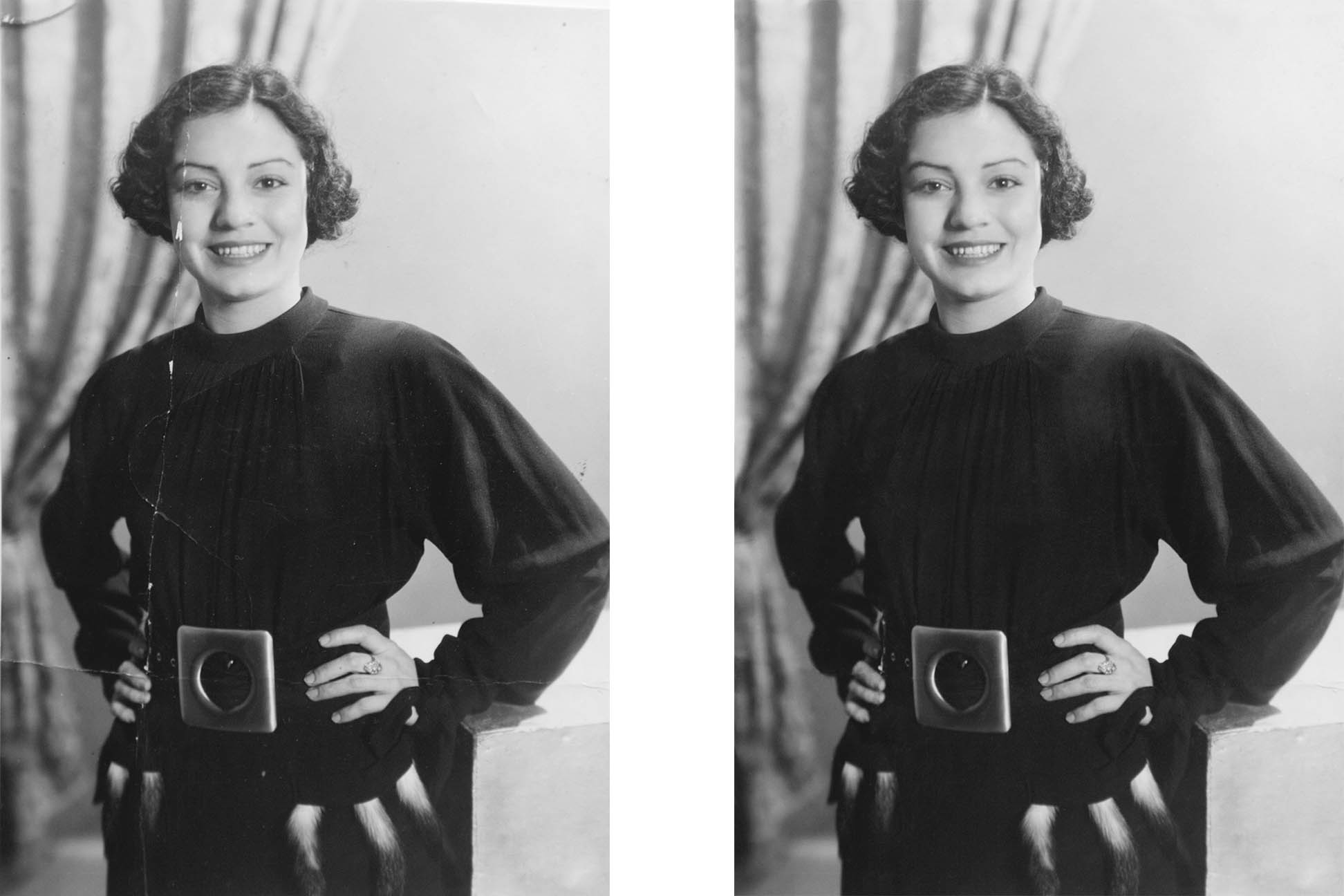 bw photo restoration