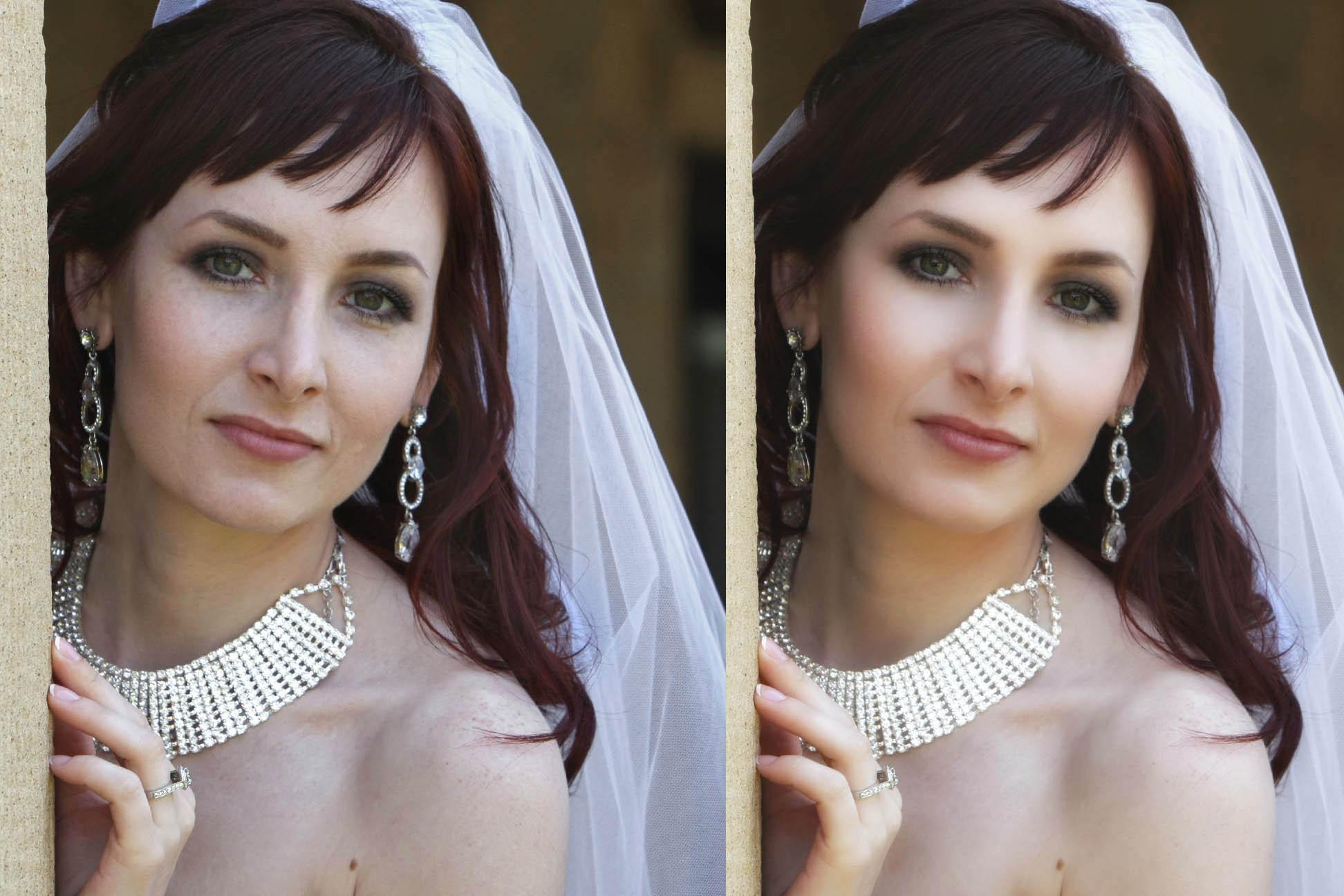bride portrait retouched