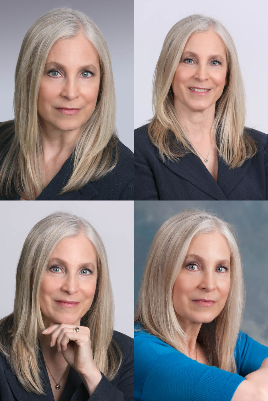 composite of female branding headshots
