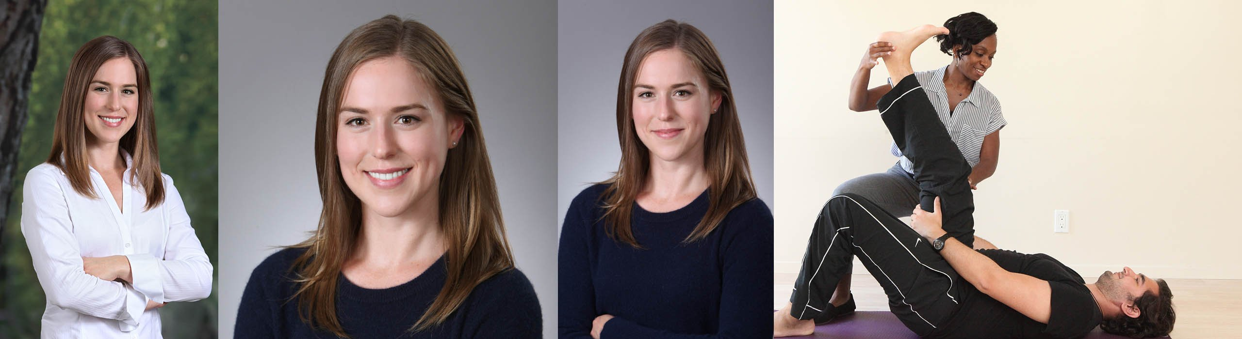 female headshots and on location pt action photo