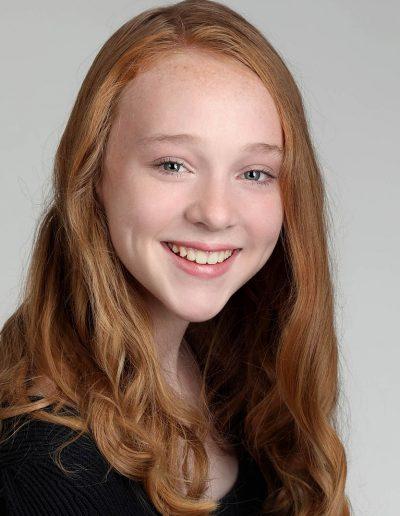 young girl headshot