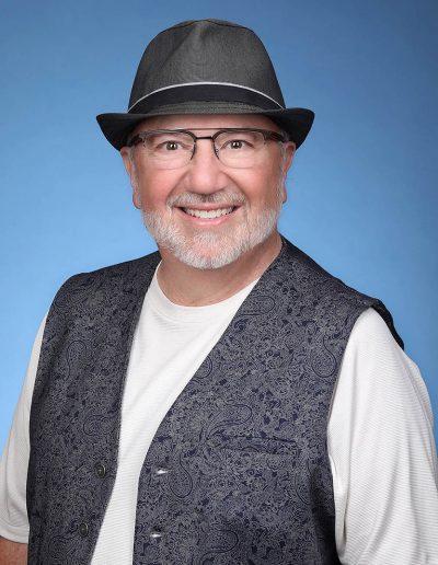 male portrait wearing a hat