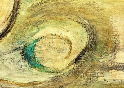 abstract painting of a circle of love