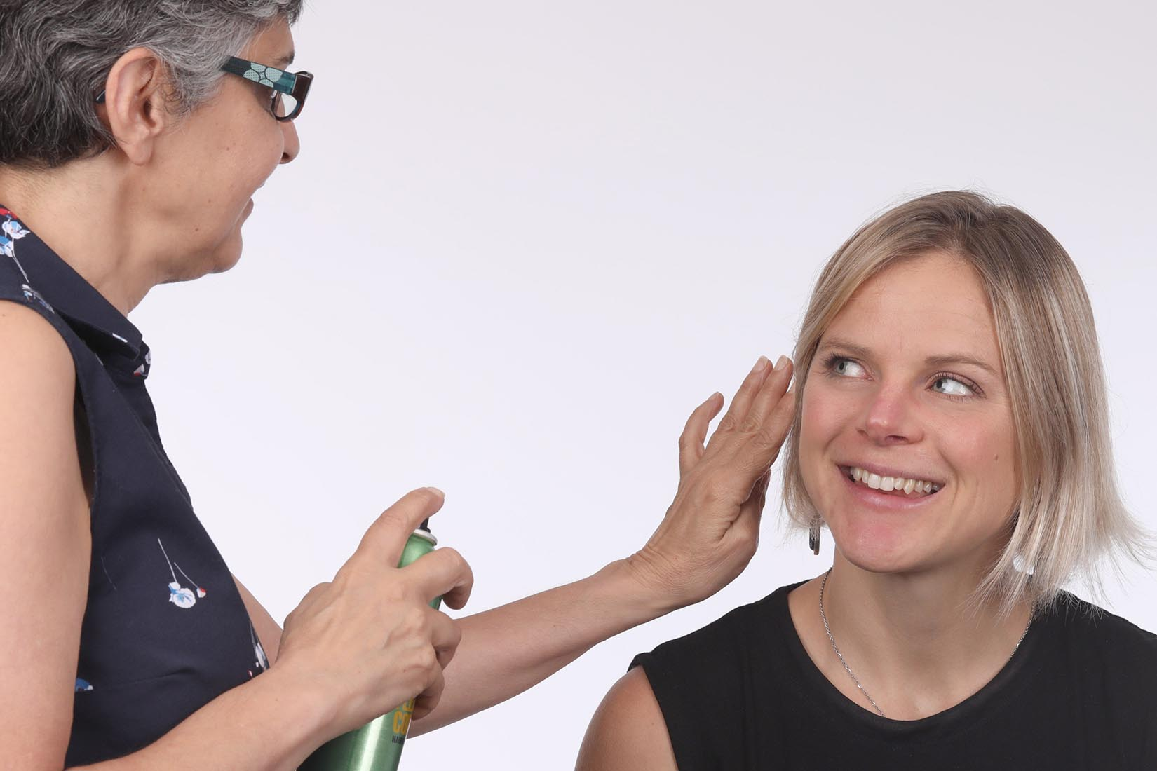 preparing a client for the photoshoot