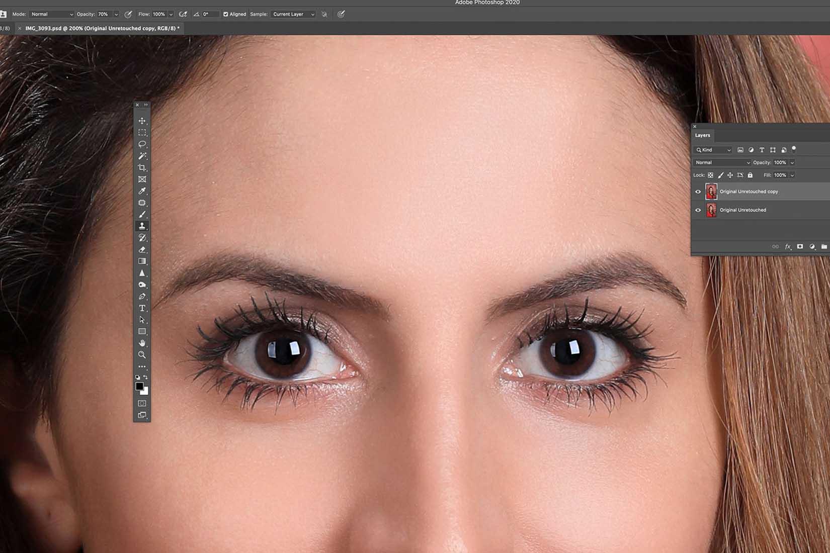 photoshop retouching of eyes