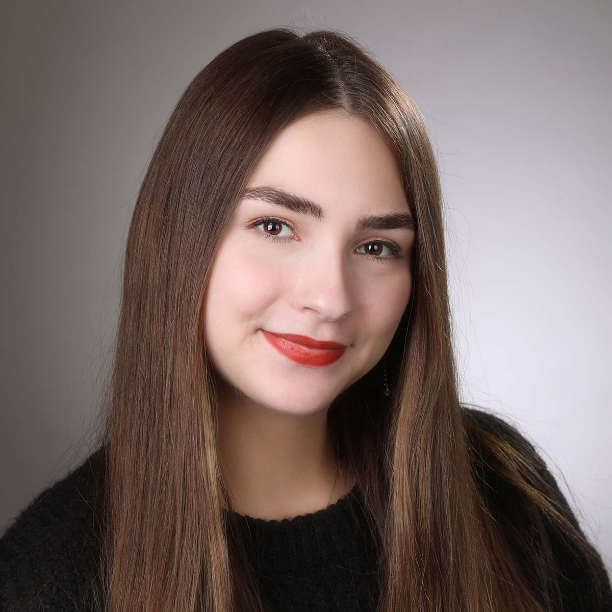 female acting portfolio headshot
