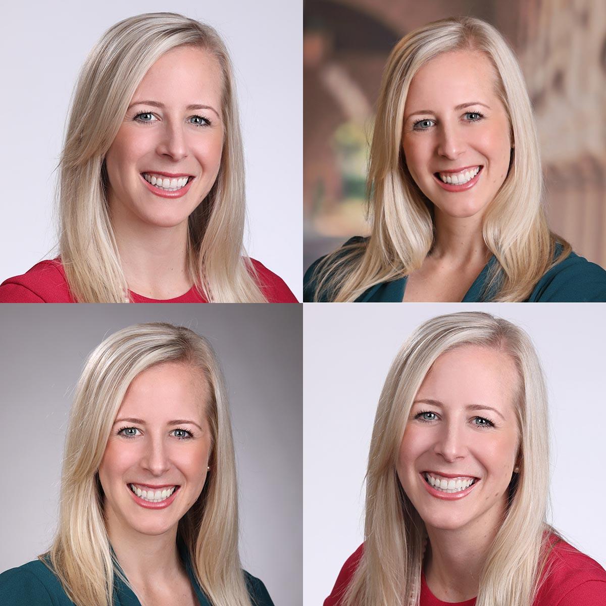 four female headshots for branding
