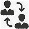headshot photos transfer icon